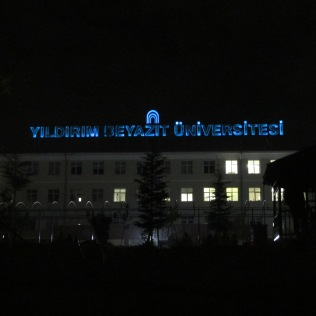 My school at night.