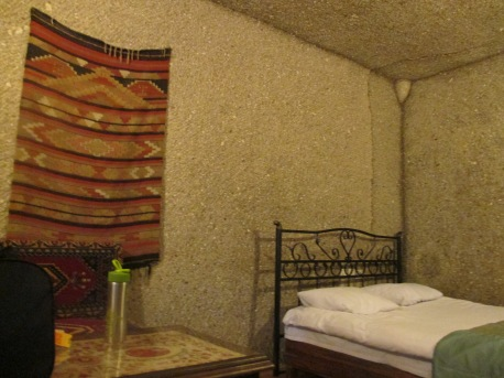 The rooms were carved out an actual cave.
