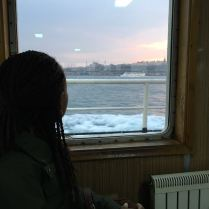 Being pensive on the ferry