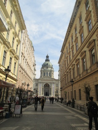 Walking up to St. Stephen's Basilica