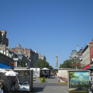 Place Jacques-Cartier (the tower in the background is Nelson's Column, to honor Admiral Horatio Nelson)