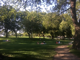 Relaxing in Parc Jeanne-Mance