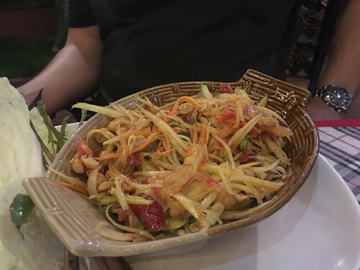 Papaya salad: I was not a fan of this AT ALL. It's spicy and has a strange smell.