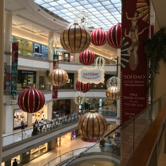 The malls were decorated too.