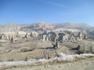 The valleys and hills of Cappadocia