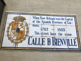 There are signs throughout the quarter with history of the streets.