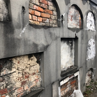 There were also vaults in the walls of the cemetery.