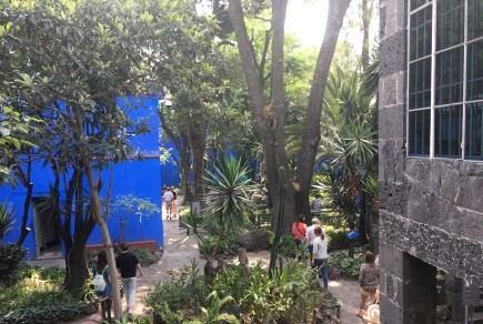 The Frida Kahlo Museum is also called La Casa Azul for the blue paint on the buildings.